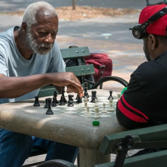 Hodge, Harlem Chess, by John Dowell artist photographer