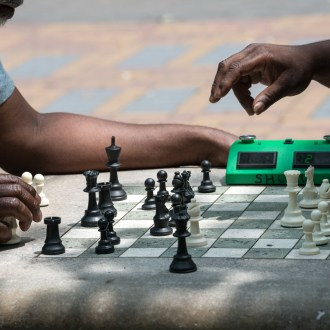 About To, Harlem Chess, by John Dowell artist photographer