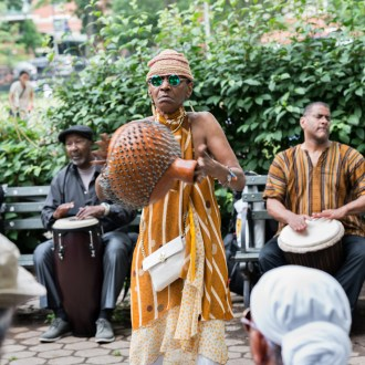 Shakeray, Harlem Drum Circle, by John Dowell artist photographer