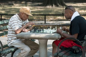 Focused, Harlem Chess, by John Dowell artist photographer