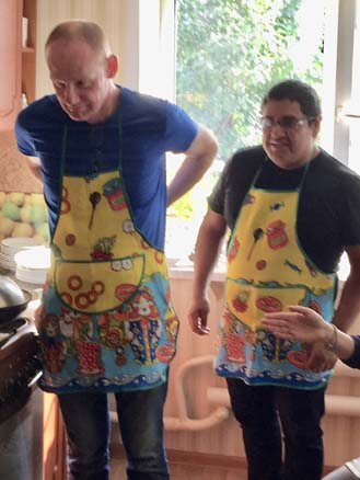 Not entirely convinced about the apron...