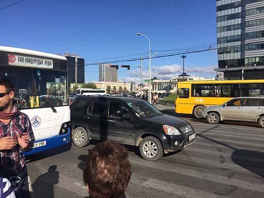 Mongolian traffic