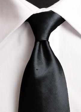 Black Standard Tie (+ Handkerchief)