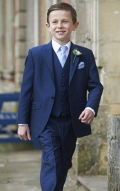 Boys Royal Blue Mohair Lounge Suit (Full Package)