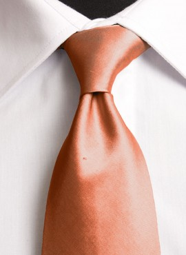 Burnt Orange Standard Tie (+ Handkerchief)