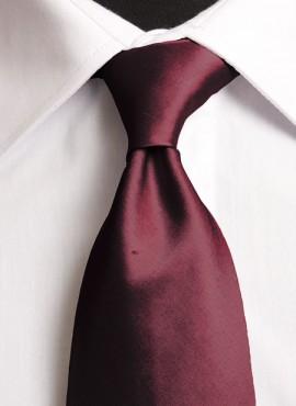 Dark Wine Standard Tie (+ Handkerchief)