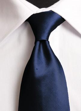 Navy Standard Tie (+ Handkerchief)