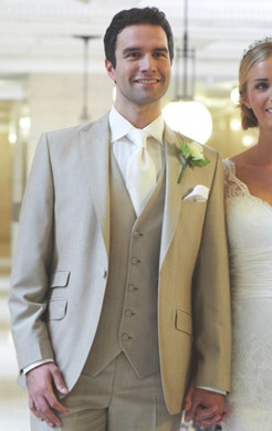 Beige Mohair Lounge Suit (Full Package)