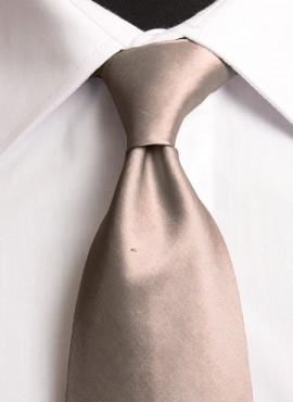 Taupe Standard Tie (+ Handkerchief)