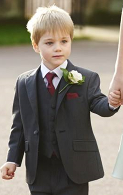Boys Charcoal Mohair Lounge Suit (Full Package)