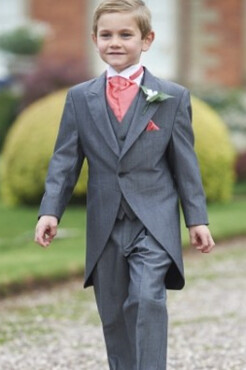 Boys Silver Grey Mohair Tailcoat (Full Package)