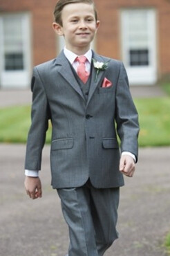 Boys Silver Grey Mohair Lounge Suit (Full Package)