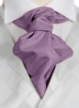 Amethyst Ruche Tie (+ Handkerchief)
