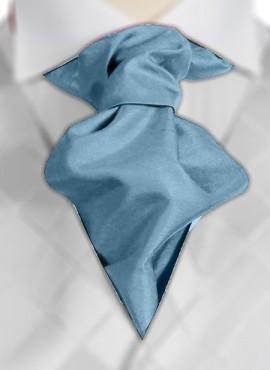 Aqua Ruche Tie (+ Handkerchief)