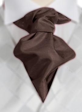 Chocolate Ruche Tie (+ Handkerchief)