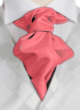 Coral Ruche Tie (+ Handkerchief)