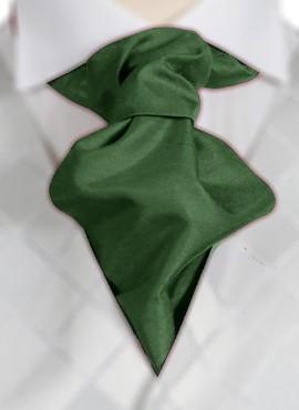 Dark Bottle Ruche Tie (+ Handkerchief)