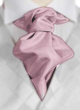 Pink Ruche Tie (+ Handkerchief)