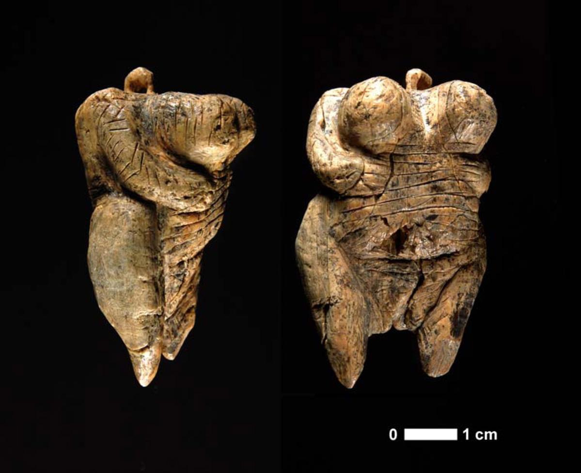 The Venus of Hohle Fels. Foto: H. Jensen. Copyright: Universität Tübingen