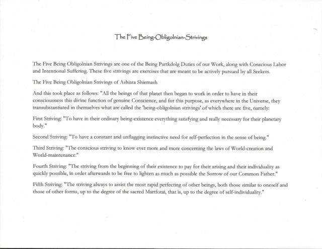5 being obligolnian strivings