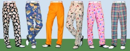 Golf pants   John Gushue       Dot Dot Dot Golf pants