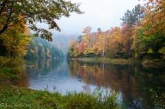 Gillette Pond at peak foliage