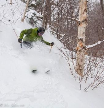 Paul Vichi drops a steep line at Mad River Glen.