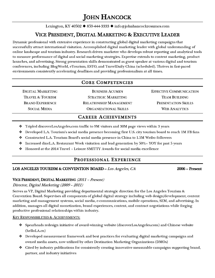 Resume Writing Samples