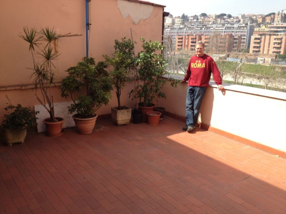 My 350-square-foot terrace overlooking the Tiber River. OK, so it's not the Seine ...