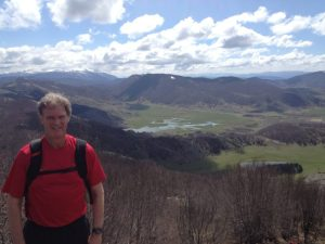 Me and the lakes of Lazio beyond.