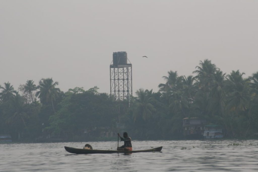 Despite a state-wide sanitation project, pollution still plagues the Backwaters and affects the fishing industry.