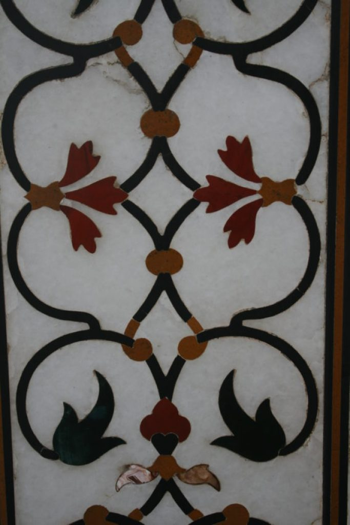The Pietra Dura has 35 different precious and semiprecious stones in the marble.