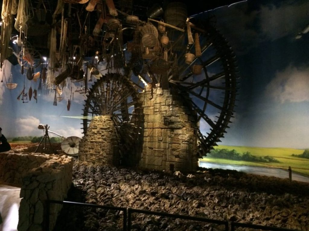 Much of Expo 2015 deals with food production, even the ancient mill.