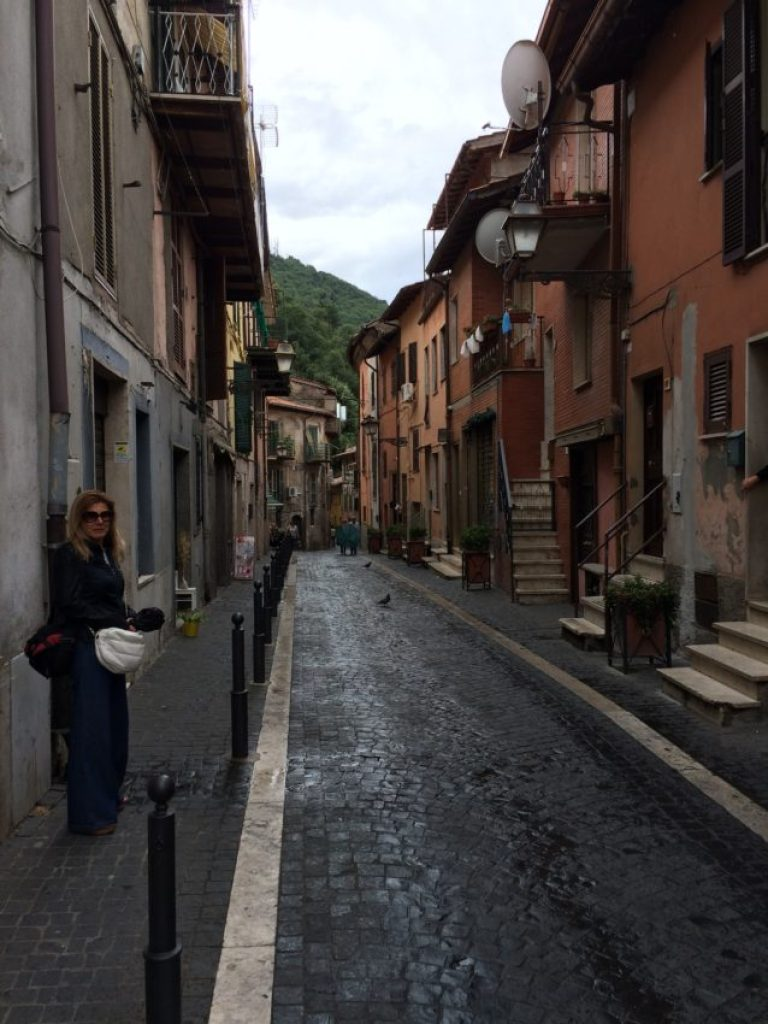 One of the narrow streets in isolated Rocca Di Papa.