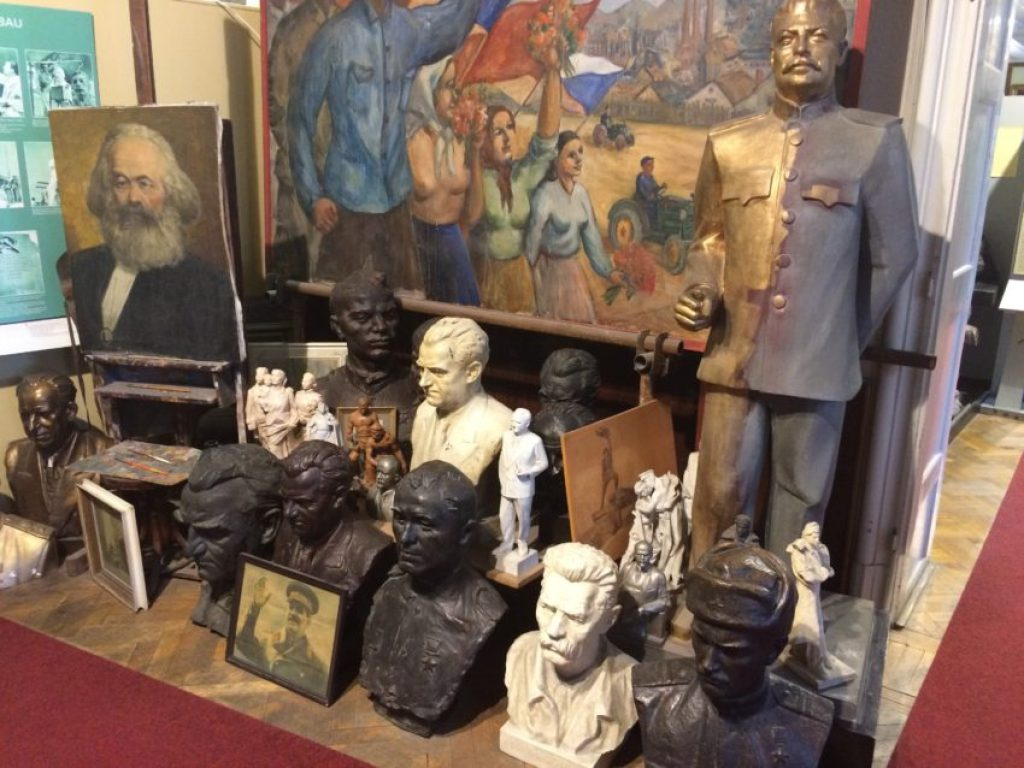 The Museum of Communism, filled with statues of former communist leaders, reminds everyone of Czechoslovakia's days under the Soviet Union's yolk.