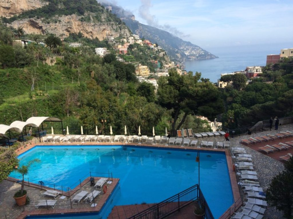 The view from our balcony at the Royal Positano.