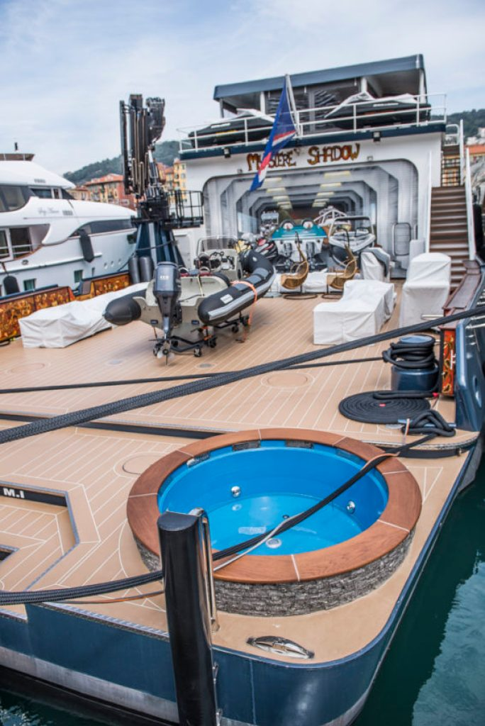 Nice has attracted the rich and famous for years, such as the owner of this boat with a Jacuzzi. Photo by Marina Pascucci