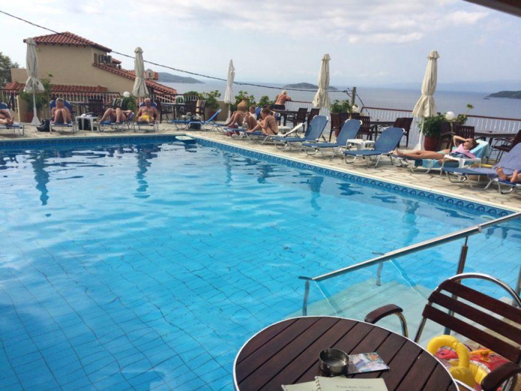 The pool at the Poseidon Villas.