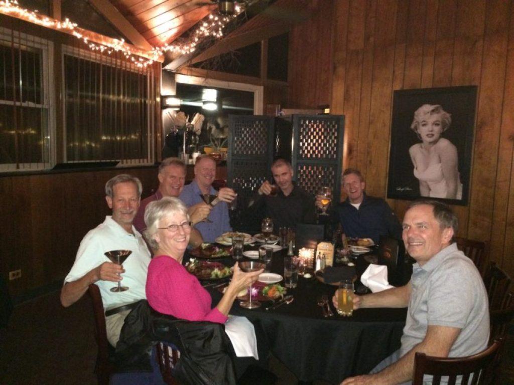 I did meet old friends at Bastien's, my favorite steakhouse in Denver.