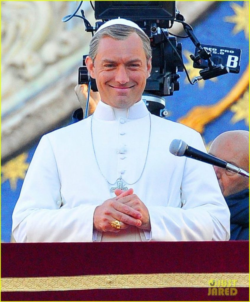 """Jude Law in """"The Young Pope."""""""