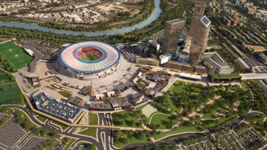 Proposed A.S. Roma stadium.
