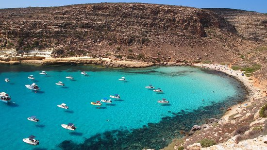 Lampedusa has nice beaches when it's not crowded.