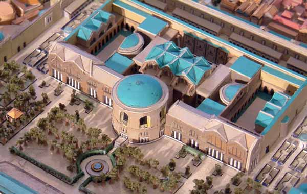 A rendition of what the complex looked like in the 3rd century AD.