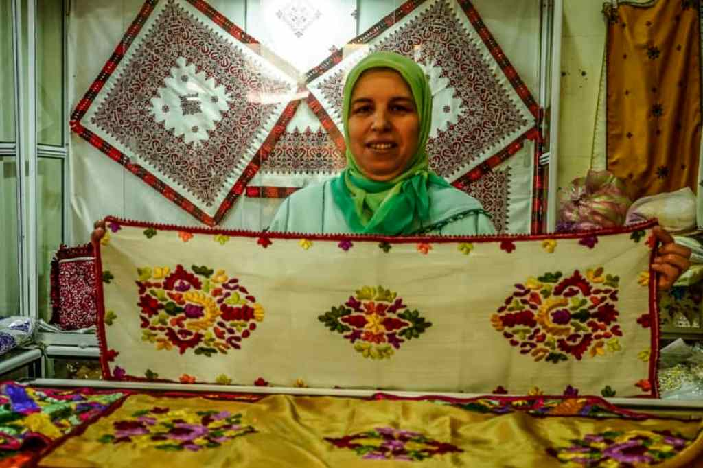Embroideries are big in Morocco. Photo by Marina Pascucci