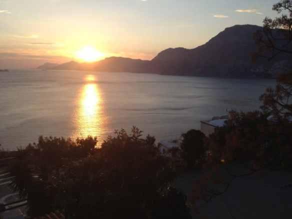Sunset in Praiano