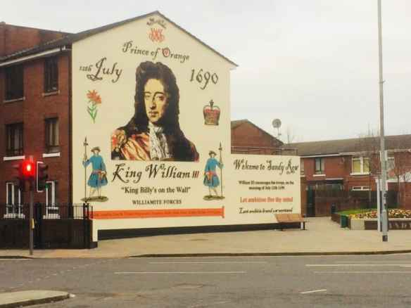 William of Orange, on Sandy Row, is considered a  symbol of unionists' fight against Catholics.