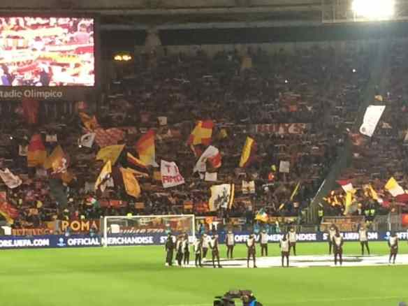 The Ultras in Curva Sud were in full force.