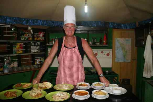 In cooking class in India.