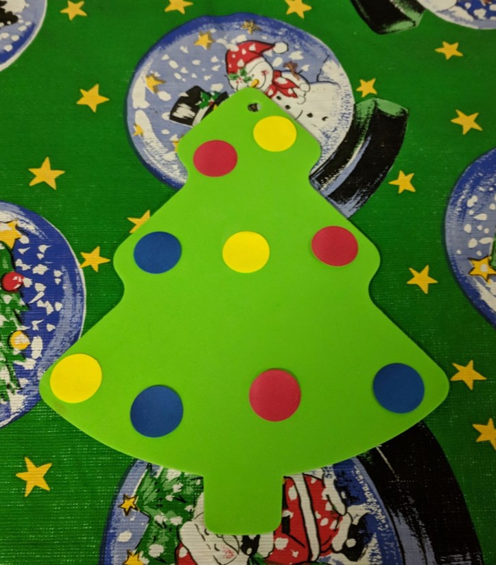Easy Sticker Christmas Tree Craft