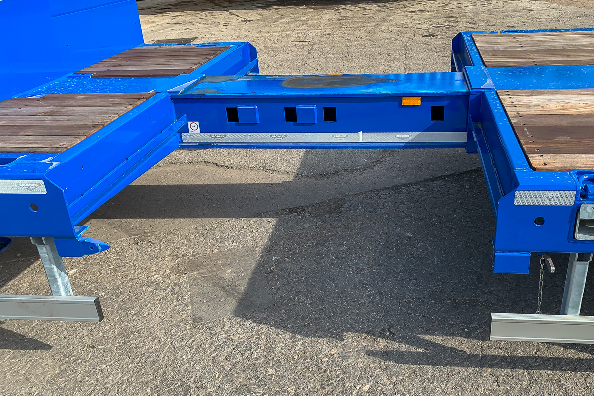 Extendable Broshuis HGV Semi Trailer Step Frame Low Loader